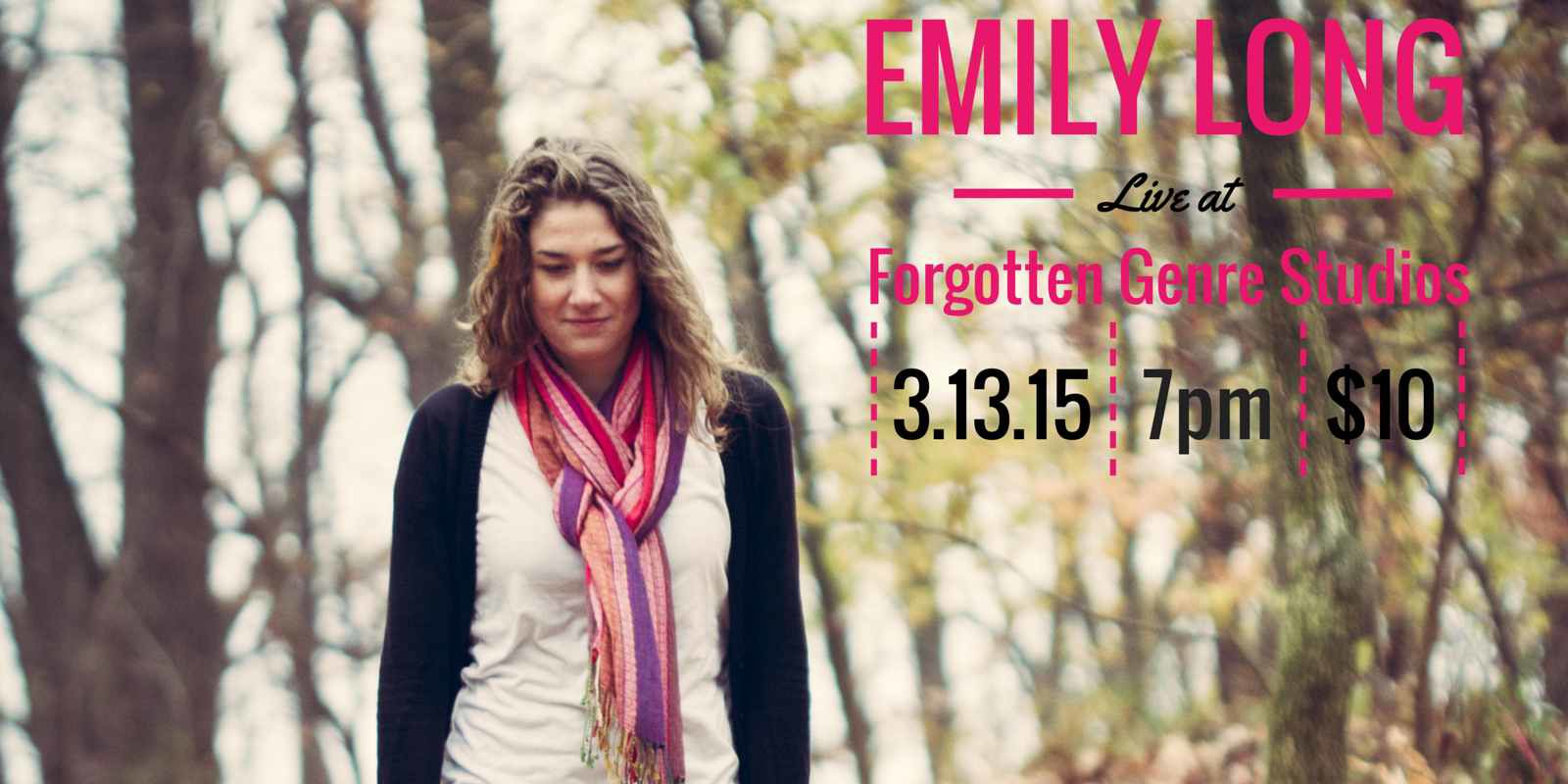 Emily Long Live at Forgotten Genre Studios